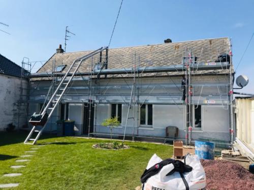 Dépose de l'ancienne toiture