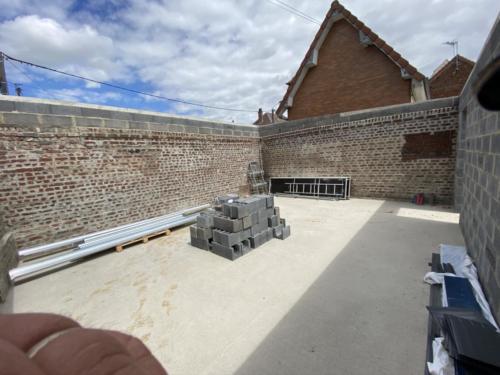 Elévation de l'ancien mur en parpaing