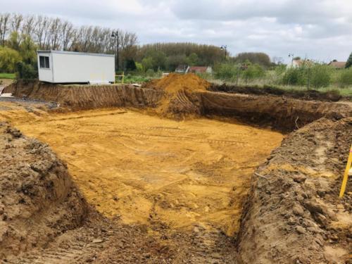 Préparation de terrain à Fouquière les Béthune